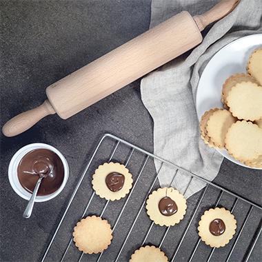 Doppeldecker Kekse Schoko-Haselnuss Rezept mit Proteinen
